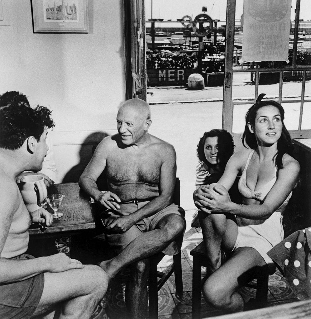 picasso and françoise gilot, by r. capa